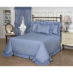 Madison industries Plisse Blue Gingham Check Bedspread Stand