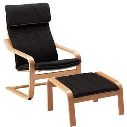 ikea poang chair armchair and footstool set. Black Bedroom Furniture Sets. Home Design Ideas