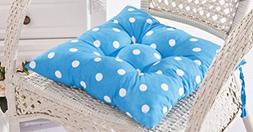 Polka Dots Stuffed Chair Cushion with Ties LivebyCare Filled