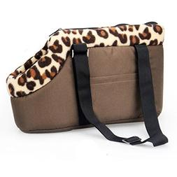 Generic Portable Leopard Pet Dog Puppy Cat Travel Outdoor Ca