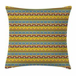 Primitive Art Throw Pillow Cushion Cover by Ambesonne, Nativ