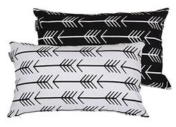 Accent Home Printed Cotton Cushion Cover,Throw Pillow Case,