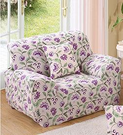 ChezMax Printed Couch Cover Polyester Spandex Fabric Sofa Co