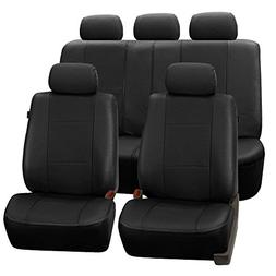 FH Group PU007BLACK115 Universal Fit Full Set Deluxe Seat Co