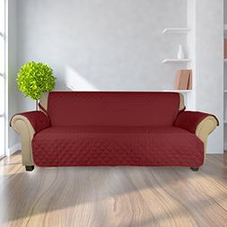 Auralum Quilted Sofa Furniture Protector Slip Cover with Ela