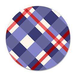 ROSE MAGEE Red And Purple Plaid Background Thin Customized E