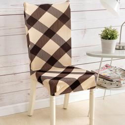 Removable Chair Cover Stretch Slipcovers Dining Room Stool S