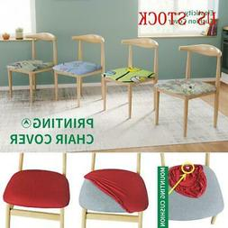 Removable Elastic Stretch Slipcovers Dining Spandex Chair Se
