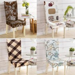 Removable Elastic Stretch Slipcovers Short Dining Room Chair