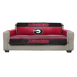 Reversible Couch Cover - College Team Sofa Slipcover Set / F