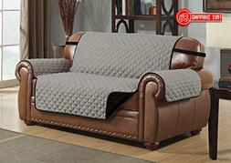 Le Benton Reversible Love Seat Cover, Quilted Pet Couch Slip