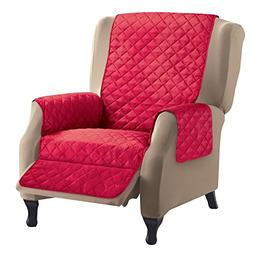 Reversible Quilted Furniture Protector Cover, Red/Cream, Rec