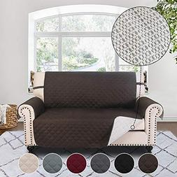 RHF Anti-slip Loveseat Cover for Leather Sofa, Pet Cover for
