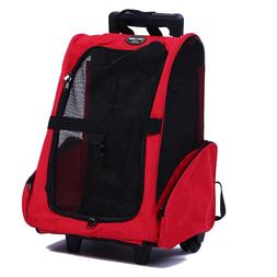 Pettom Roll Around 4-in-1 Pet Carrier Travel Backpack Trolle