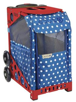 Zuca Rolling Pet Carrier - Best In Show bag w/ Red Sport Fra