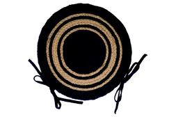 "IHF Home Decor Round Chair Cover Pad 15"" Braided Jute Rug Ne"
