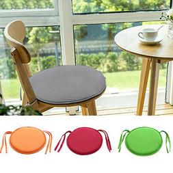 Round Bistro Chair Cover Cushion Seat Stool Tie Pads Kitchen