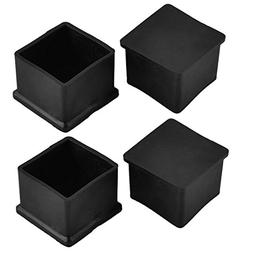 uxcell Rubber Square Shaped Home Furniture Foot Leg End Cap