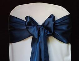 mds Pack of 10 Satin Chair Sashes Bow sash for Wedding and E