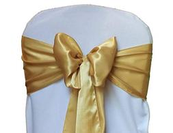 mds Pack of 100 Satin Chair Sashes Bow sash for Wedding and