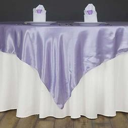 "Efavormart 60"" SATIN Square Table Overlay For Wedding Cateri"