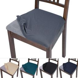 Set of 2/4 Stretch Removable Washable Dining Room Chair Seat
