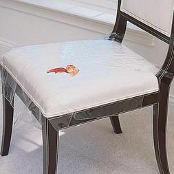 Set of 2 or Set of 4 Protective Plastic Dining Chair Seat Co