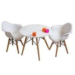 Set of Two  White - Kids Eames Style Retro Modern Colorful D