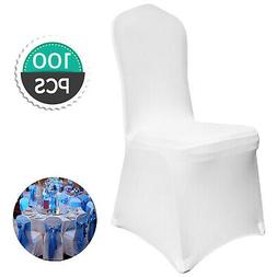 EMART Set of 50pcs White Color Polyester Spandex Banquet Wed
