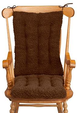WalterDrake Sherpa Rocking Chair Cushion Set by OakRidge Com