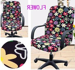 Shihualine Slipcovers Cloth Chair pads Removable Office Desk