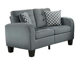 Homelegance Sinclair Tufted Accent Loveseat with Two Geometr
