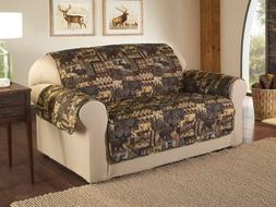 Slipcover Recliner Sofa Love Seat Cover Lodge Print Pet Prot