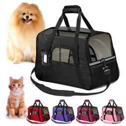 Small Cat / Dog Pet Carrier Soft Sided Comfort Bag Travel Ca