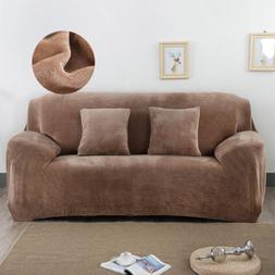 Sofa Cover for Living Room Elastic Slipcovers Plush 4 Seats