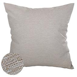 Deconovo Soft Pillow Case Faux Linen Pillow Cover with Invis