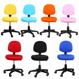 Solid Color Spandex Computer Chair Cover Office Seat Cover S