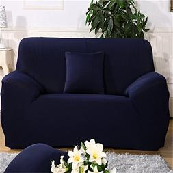 ChezMax Solid Color Couch Cover Spandex Fabric Sofa Cover 1