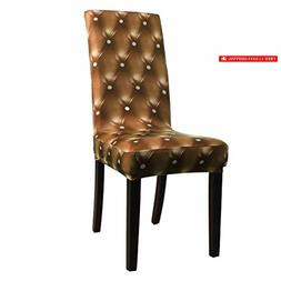 spandex stretch 3d dining chair cover short
