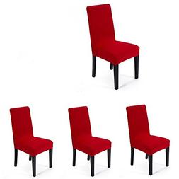 4 pieces Spandex Stretch Washable Dining Room Chair Cover Pr