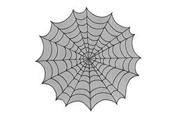 """Heritage Lace SPIDER WEB 30"""" Table Topper - Halloween - Blac"""