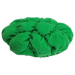 Stickat Stool Cover, Green - Round with Filling for a Comfor