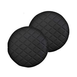Pinji 2PCS Stool Cover Faux Leather Round Bar Cover Seat Cus