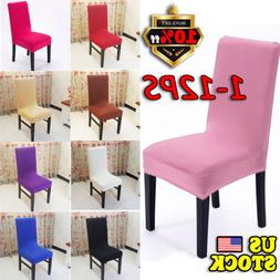 Stretch Chair Seat Cover Elastic Washable Removable Decor Di