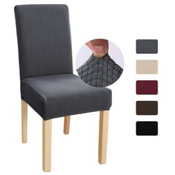Stretch Dining Chair Cover Soft Fleece Slipcover Removable S