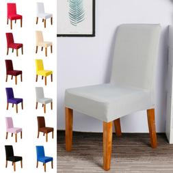 Stretch Dining Chair Seat Covers Spandex Removable Slipcover