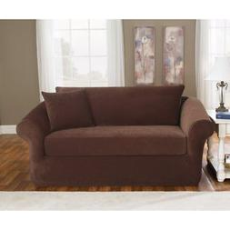 Sure Fit Stretch Pique Three Piece Loveseat Slipcover