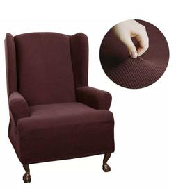 Maytex Stretch Pixel One Piece Wing Chair Slipcover