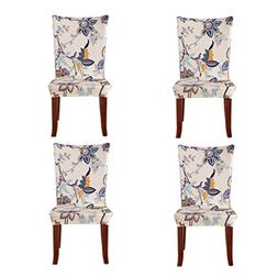 Jiuhong Stretch Removable Washable Short Dining Chair Protec