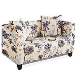 HOTNIU 1-Piece Stretch Sofa Couch Covers - Spandex Printed L